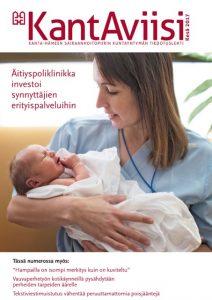 KantAviisin 2017 vuoden kesänumeron kannessa äitiyspoliklinikan synnyttäjien erityispalvelusta.