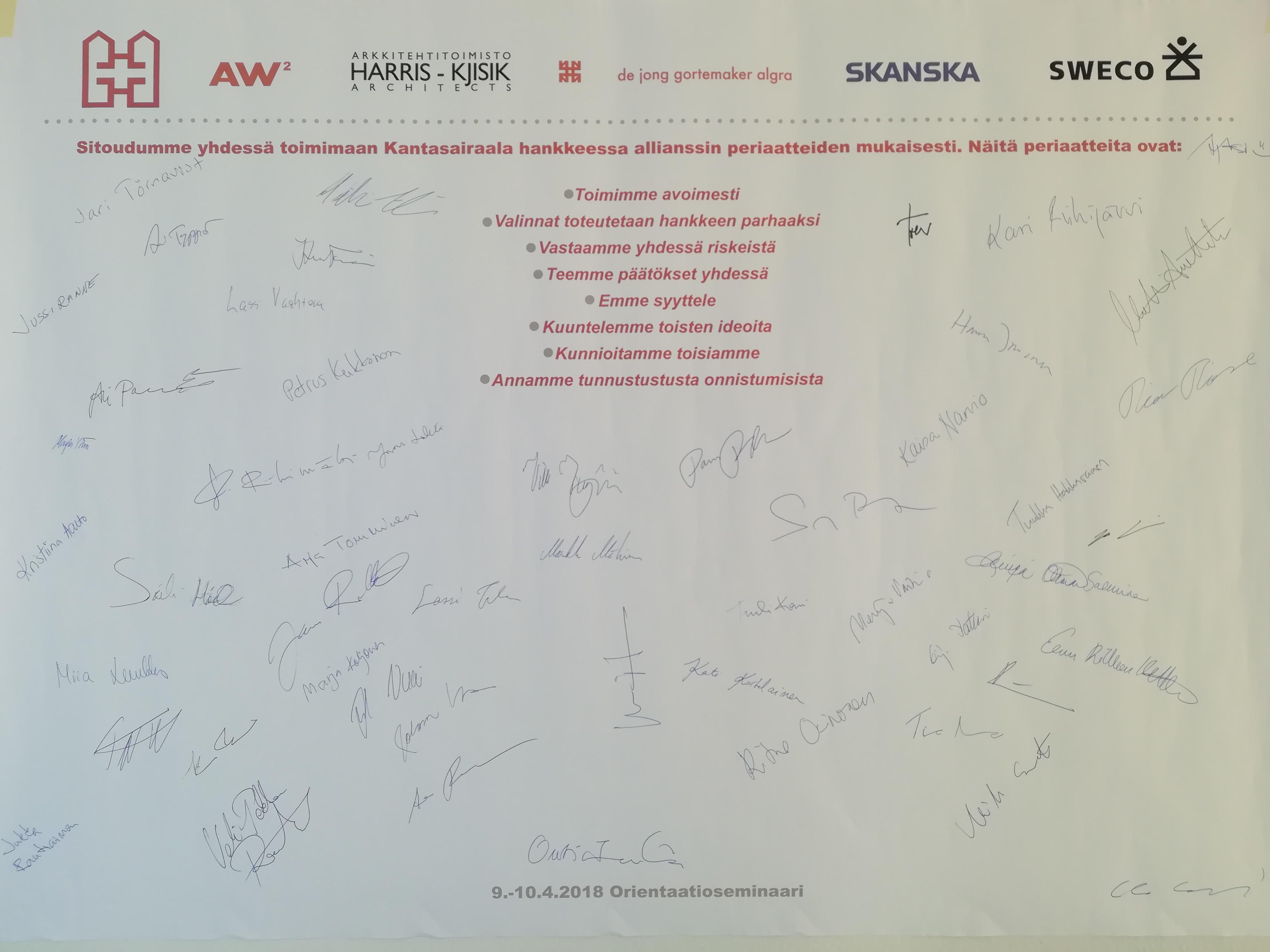 Yli 50 allekirjoitusta