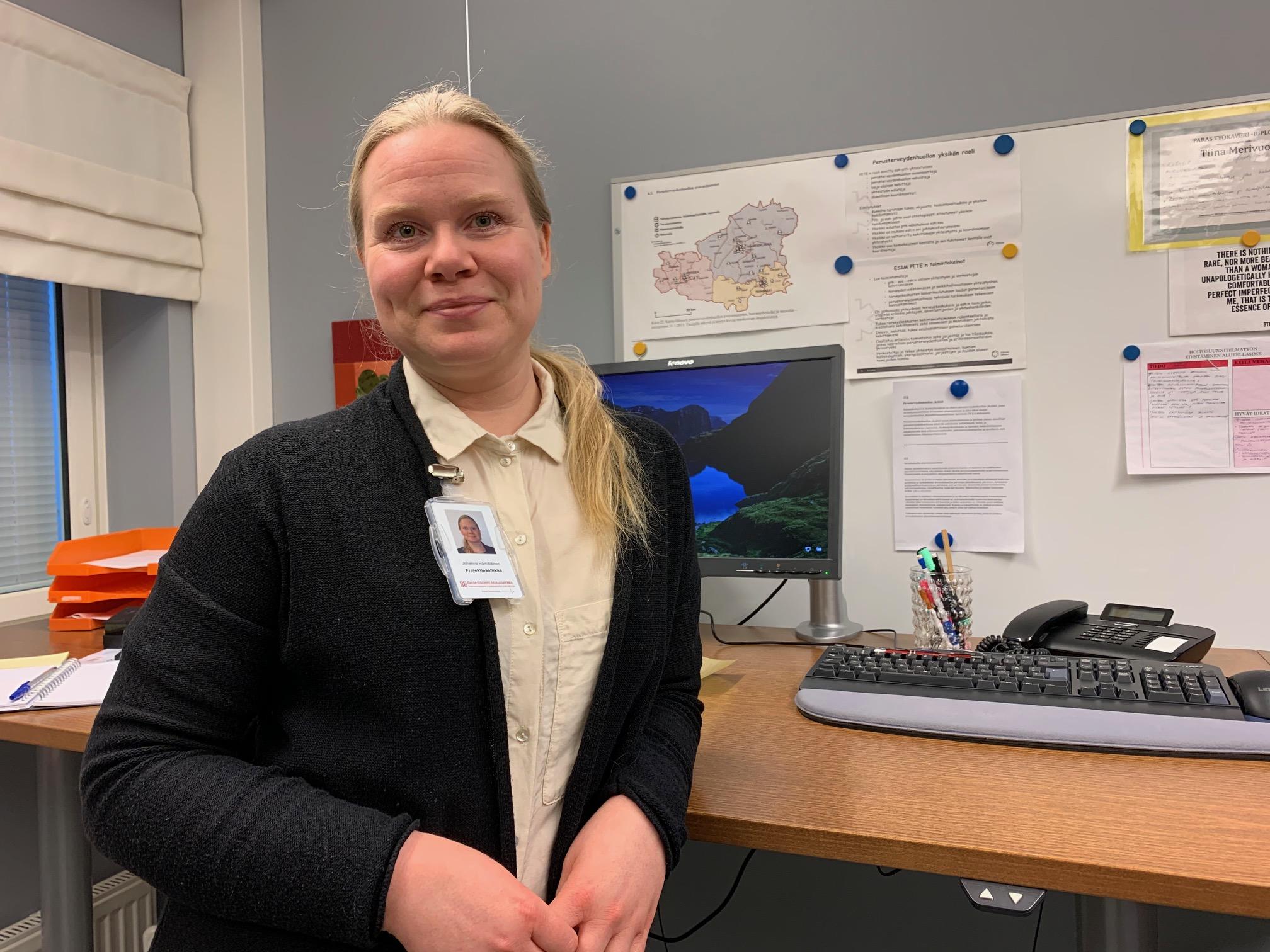 Huomisen terveyskeskus -hankkeen projektipäällikkö Johanna Hämäläinen